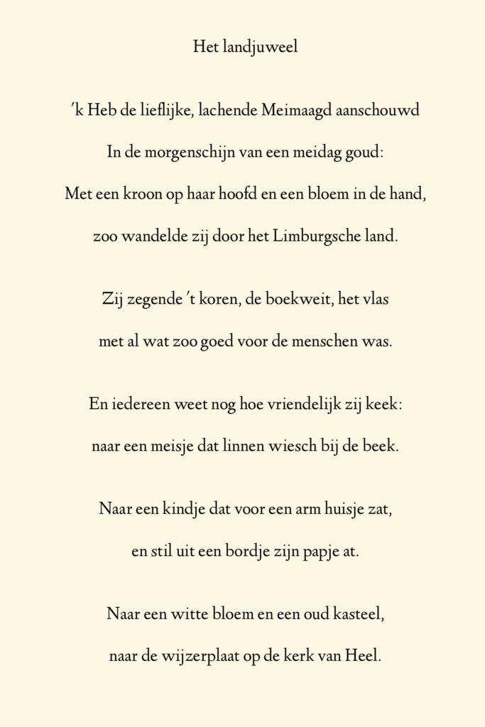 Landjuweel gedicht Jacques Schreurs