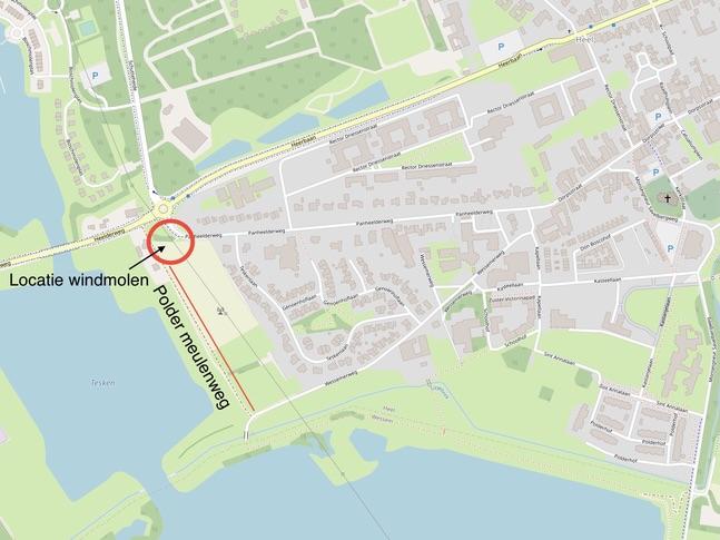 Locatie Standaardmolen Panheel Heemkring Heel