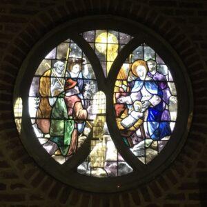Glas in lood raam kapel Panheel Heemkring Heel