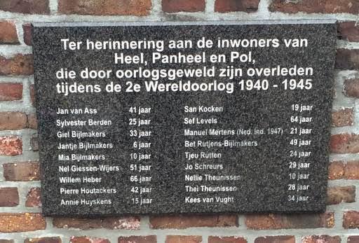Oorlogsslachtoffers Heemkring Heel